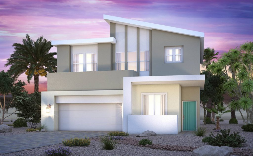 Inspirada's active Henderson community Century Communities' Sestina Collection 2149 Contemporary Elevation