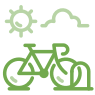 bike rack icon green