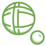bocce ball icon green