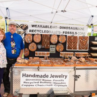 handmade jewelry at farmers market