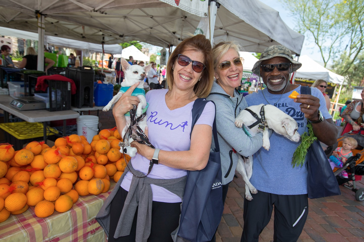 Friends at the Farmers' Market