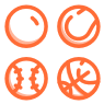 sports ball icon orange