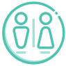 restroom icon teal