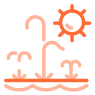 splash pad icon orange
