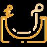 skate park icon gold
