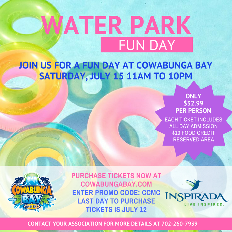 Water Park Fun Day Ticket Offer Inspirada - 260 area code