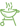grill icon green
