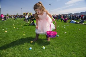 Easter egg hunt at the Inspirada community