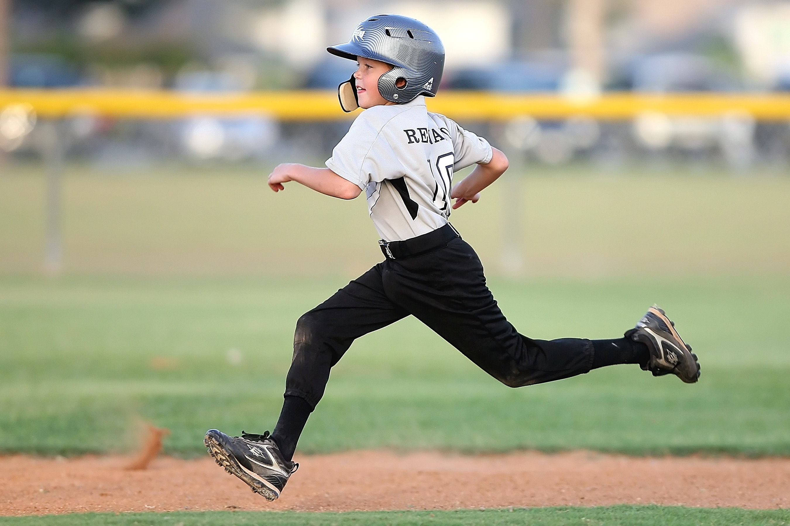 Young athlete at the baseball fields at Inspirada