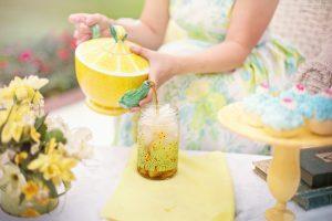 Lemonade at a tea party