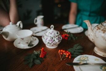 ornate tea set
