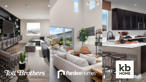 Toll Brothers, Pardee Homes, and KB Home imagery.
