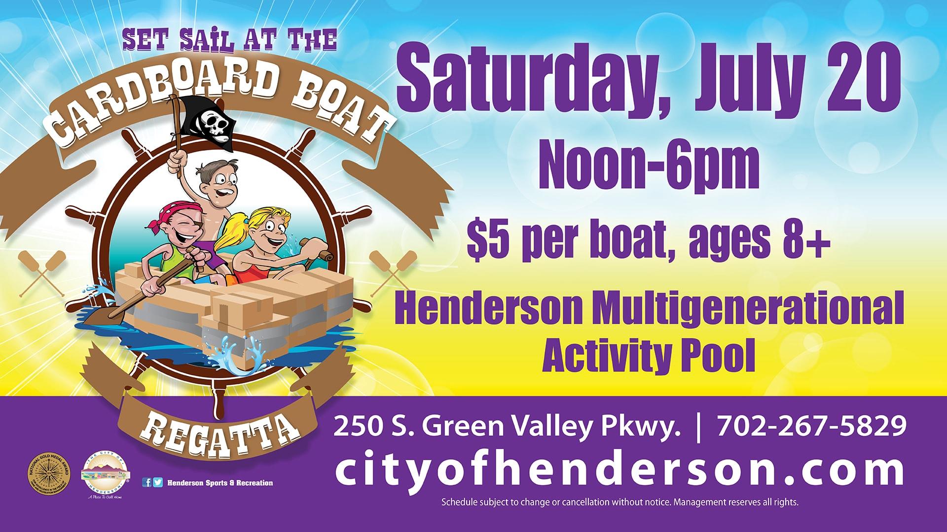 City of Henderson cardboard boat regatta
