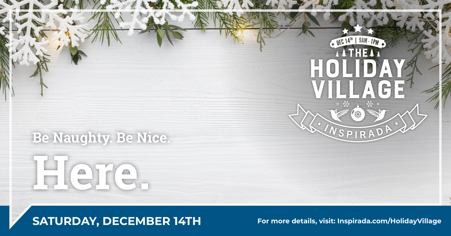 Holliday Village event flyer