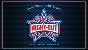 A logo for National Night Out, a free community event