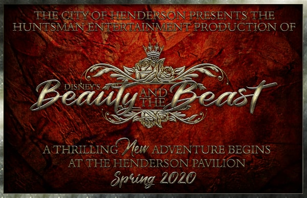 Beauty and the Beast is coming to Henderson Pavilion in Spring 2020